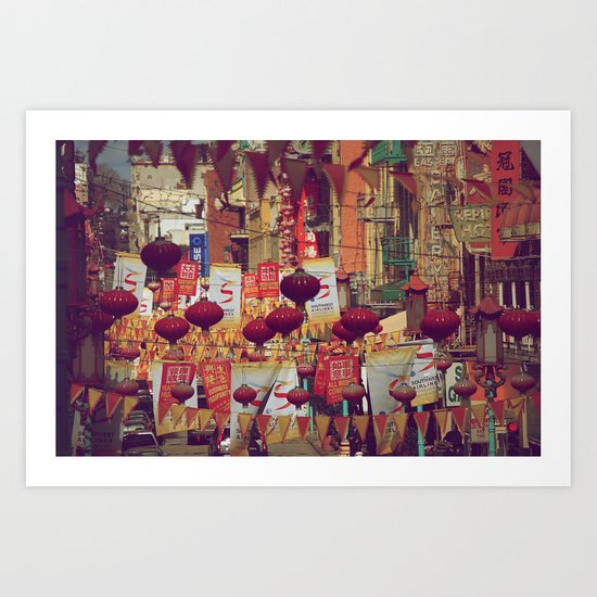 A Walk Through China Town Art Print