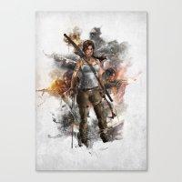 tomb raider Canvas Prints featuring Tomb Raider Reborn... by 187designz