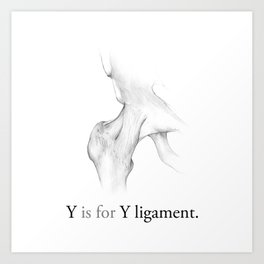 Y is for Y ligament Art Print