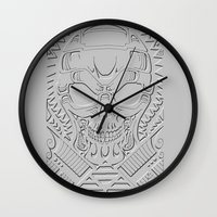 terminator Wall Clocks featuring terminator polynesian by Andrew Mark Hunter