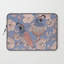Quail and Wild Roses Laptop Sleeve