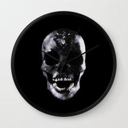 Silver Skull Wall Clock