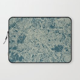 Paris Map Blue Laptop Sleeve