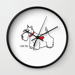 I love you - Scottie Wall Clock
