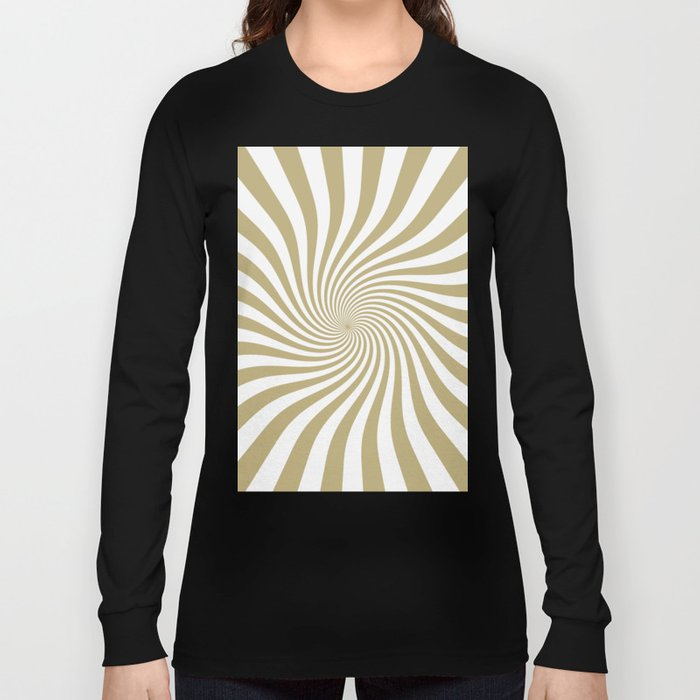Swirl (Sand/White) Long Sleeve T-shirt