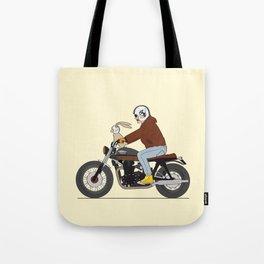 Bunny riding triumph Tote Bag