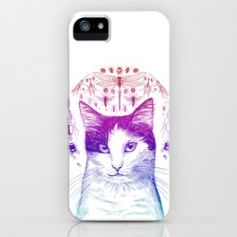 Of cats and insects iPhone Case