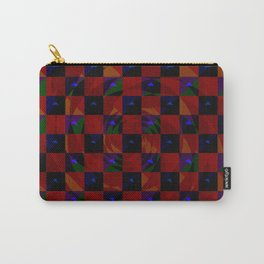 Abstract color checkered swirl with halftones Carry-All Pouch