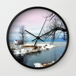 Ice Beach Wall Clock