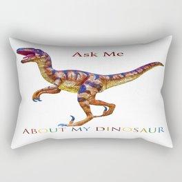 Ask Me About My Dinosaur Rectangular Pillow