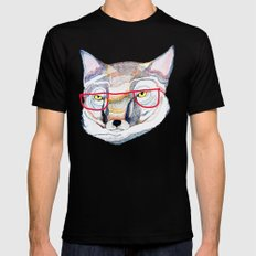 Mr Fox Mens Fitted Tee SMALL Black