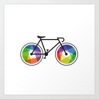Geometric Bicycle Art Print