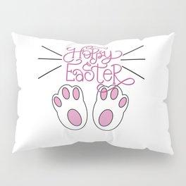 Hoppy Easter Bunny Feet and Whiskers Pillow Sham