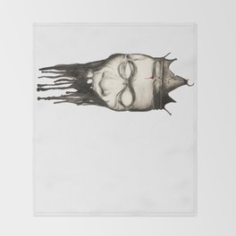 Rotten heads of kings with crowns. Throw Blanket