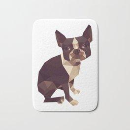 Low Polygon Boston Terrier Bath Mat