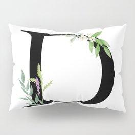 Botanical D Pillow Sham
