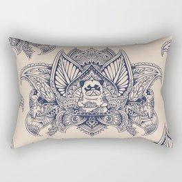 Lotus Mandala Pug Rectangular Pillow