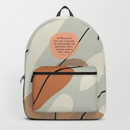 The Peace of God, Philippians 4:7, Bible Quote Backpack