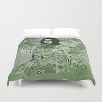 snape Duvet Covers featuring Portrait of a Potions Master by Karen Hallion Illustrations