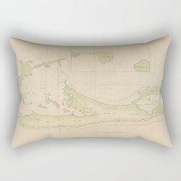 Vintage Map of Bermuda (1760) Rectangular Pillow