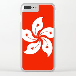 Flag of hong kong Clear iPhone Case