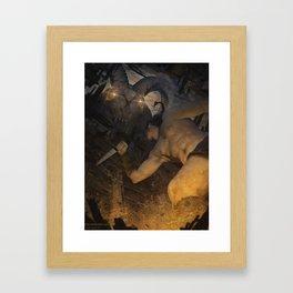 Night visitor Framed Art Print