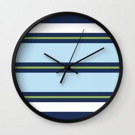 Minimal Abstract Blue White Green 15 Wall Clock