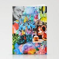 salvador dali Stationery Cards featuring Salvador Dali by John Turck