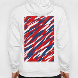 Red, White and Blue Patriotic Pattern Hoody