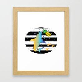Pineapple Shark 1 Framed Art Print