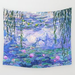 Claude Monet Water Lilies French Impressionist Art Wall Tapestry