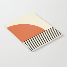 Sunrise / Sunset - Orange & Black Notebook