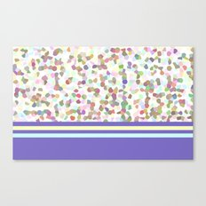 pastel dots with blue Canvas Print