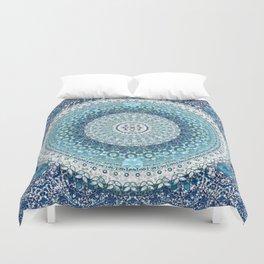 Teal Tapestry Mandala Duvet Cover