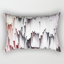 White Black Mauve Cascade Abstract Rectangular Pillow