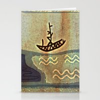boat Stationery Cards featuring Boat by Menchulica