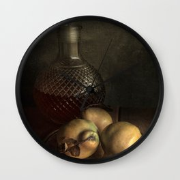 The taste of ripe pears Wall Clock