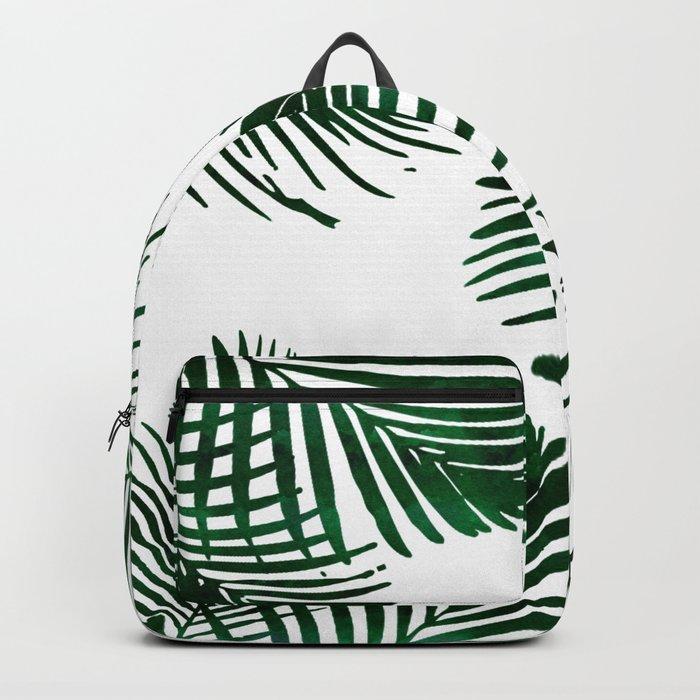 Tropical Palm Leaf Backpack