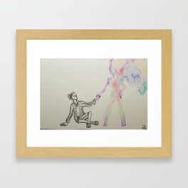 A Helping Hand From Parts Unknown Framed Art Print