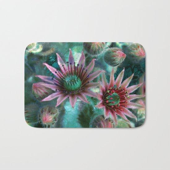 Succulents Flower Garden Bath Mat