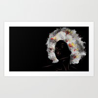afro Art Prints featuring afro by Nile