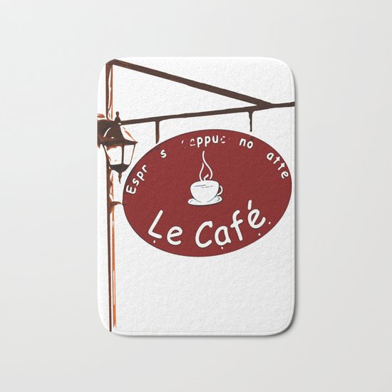 Le Cafe, France Bath Mat