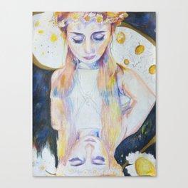 Celestial Daisy Girl Canvas Print