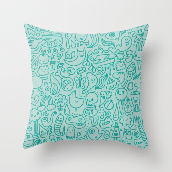 Throw Pillow Doodle : Chalk Doodle Throw Pillow by Craig Watkins Society6