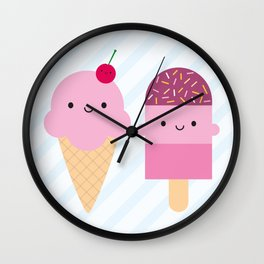 Summer Ice Cream Treats Wall Clock