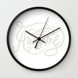 Hand Lettered Awesome Wall Clock