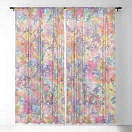 Prairie Wildflowers Sheer Curtain