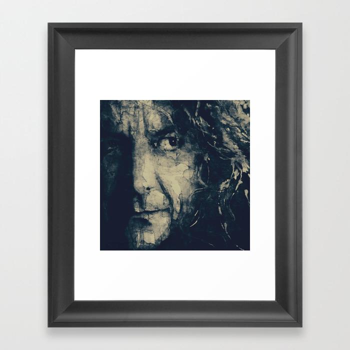 Robert Plant Framed Art Print by Paulloveringwatercolors FRM8730335