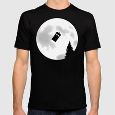 Dr Phone Home MEDIUM Black Mens Fitted Tee