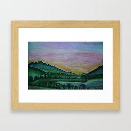 Franschhoek Valley Framed Art Print